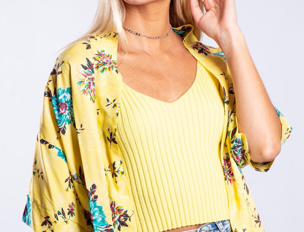 Kimono floreado