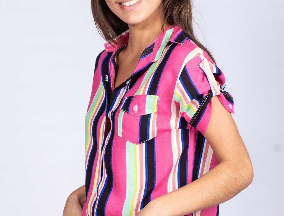 Camisa M/C Raya combi Color