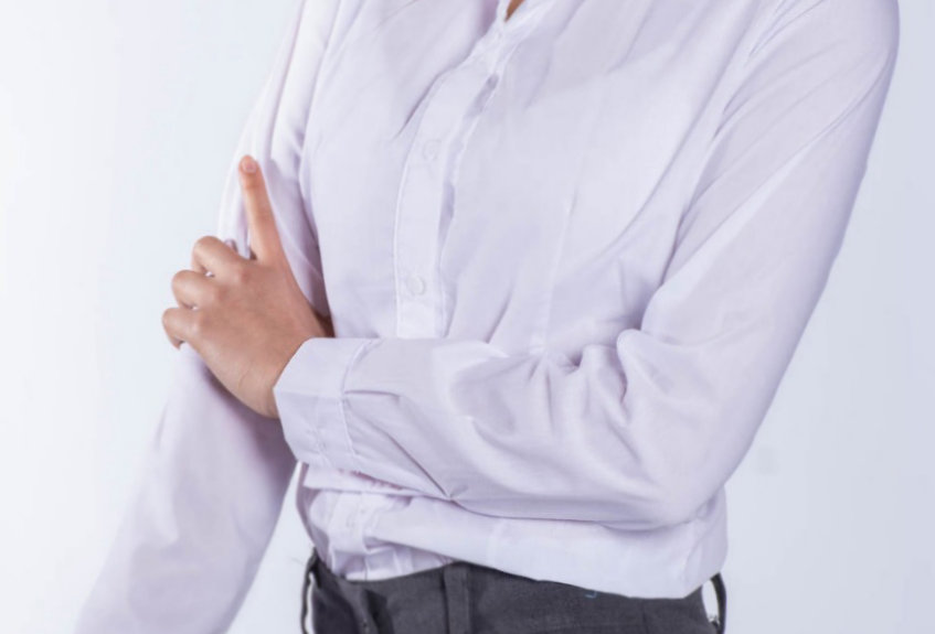camisa entallada algodon