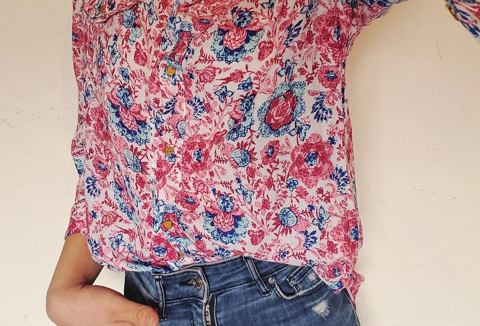 Camisa 3/4 floreado