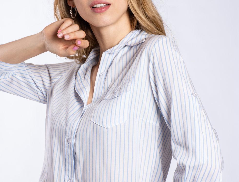 Camisa 3/4 rayas finas