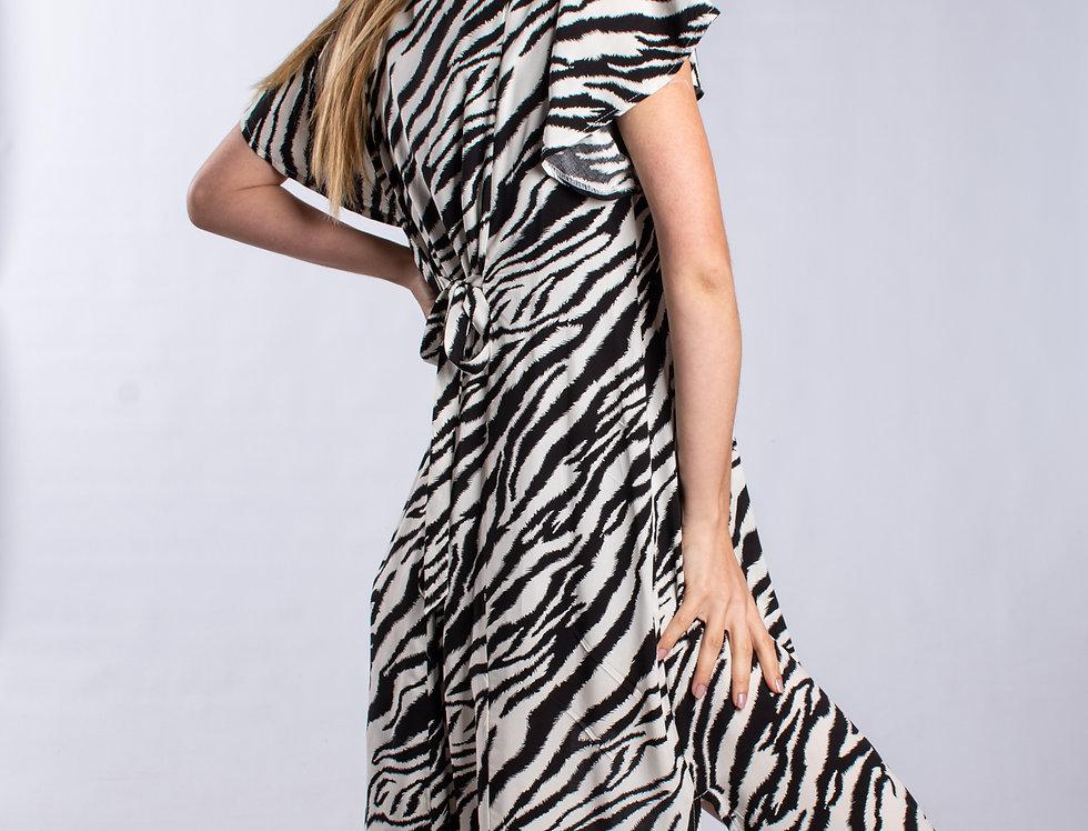 Vestido Londress M/C Zebra