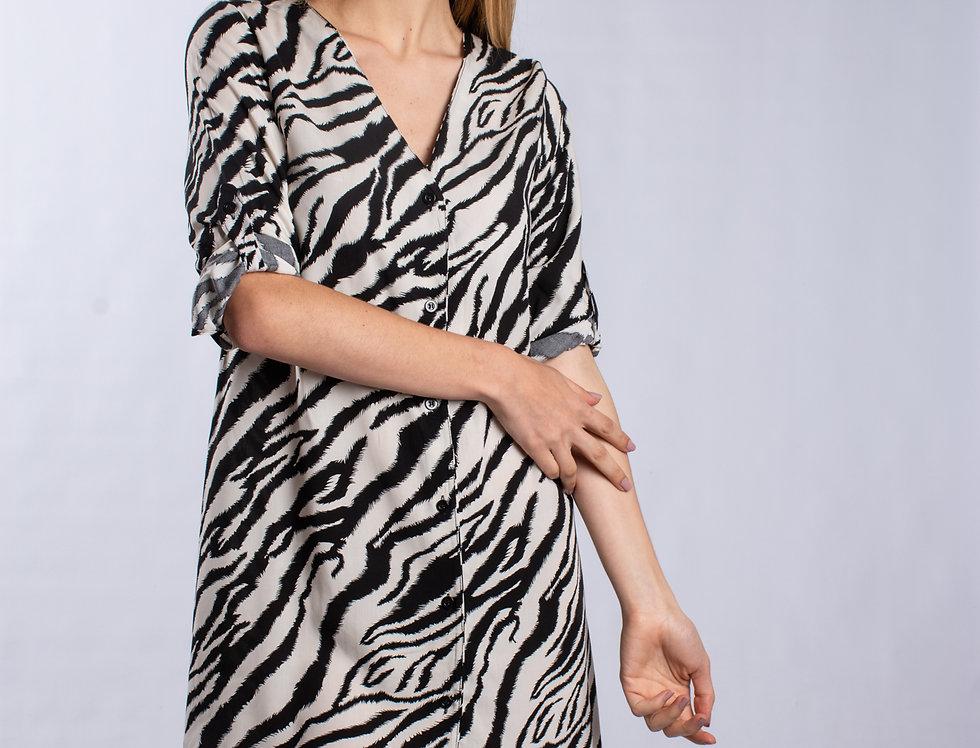 Vestido Anabel Zebra