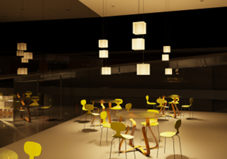 Haward Brandston Lighting Design Compitition  - Seating Area- Singh Center , Philadelphia