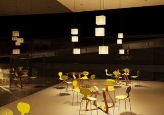 Haward Brandston Lighting Design Compitition  - Seating Area- Singh Center , Philadelphia