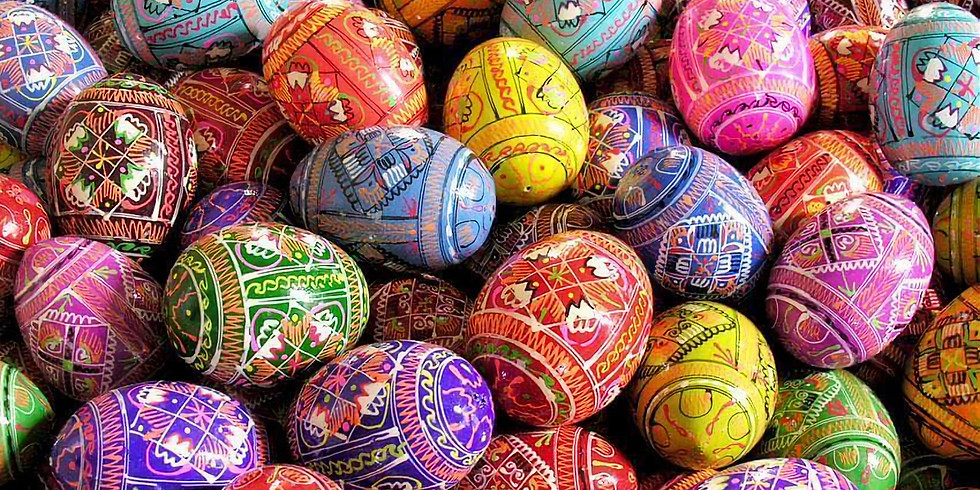 """Ukrainian Easter Egg Decorating """"Pysanky"""" for children and families"""