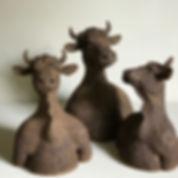 Petits bustes, en bouse de vaches Aubrac