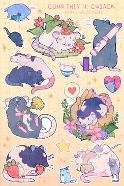 Rat Sticker Sheet