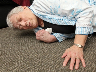 Poor vision of the elderly causing falls