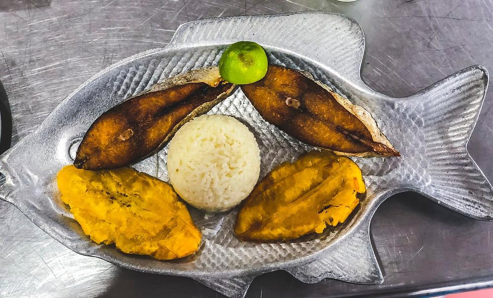 Cartagena Colombia travel blog sierra fish arroz de coco