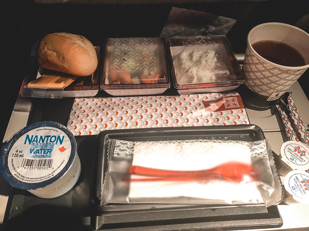 Qatar Airways plane food