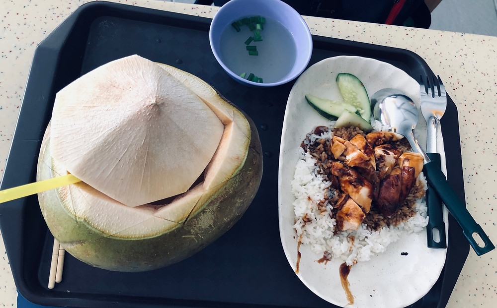Singaporean dish, Coconut water