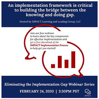 Webinar: Eliminating the Implementation Gap