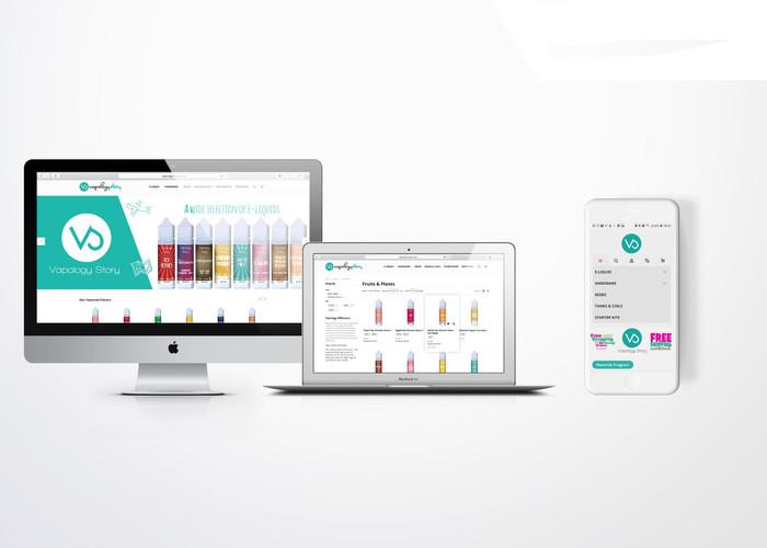 VAPOLOGY - WEBSITE UX/UI DESIGN, MAGENTO