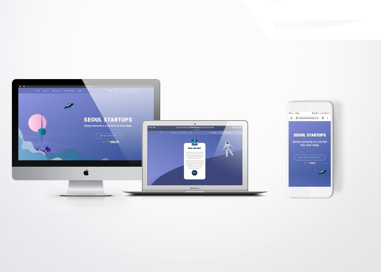 SEOUL STARTUPS - BRAND IMAGE & UX/UI