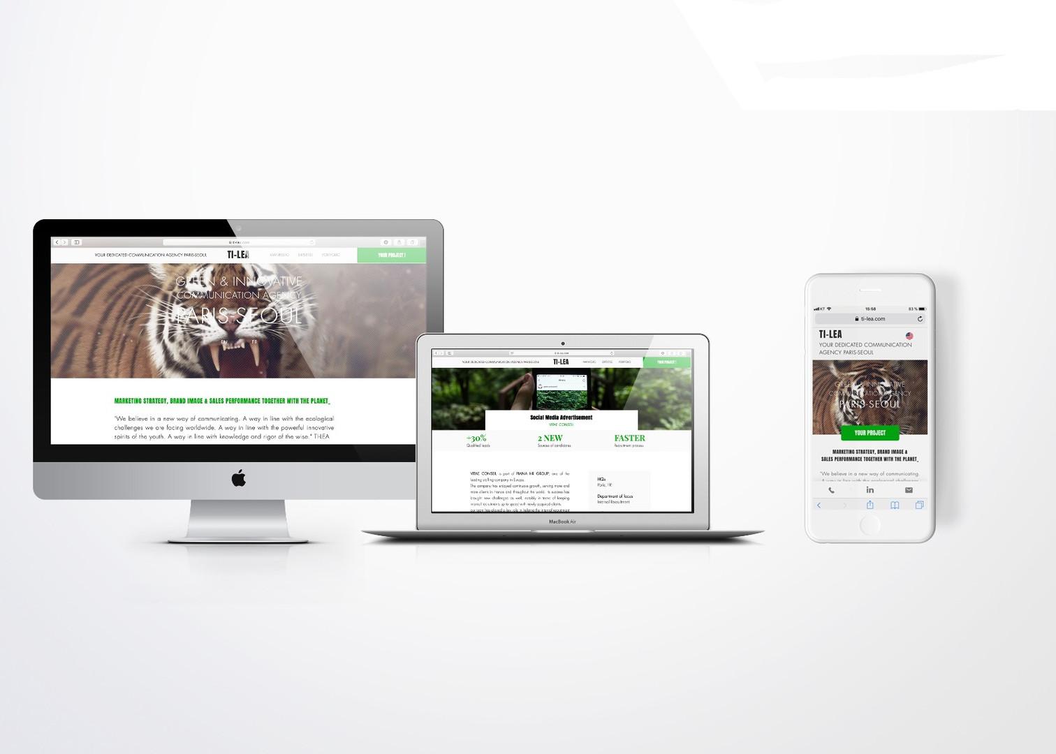 TI-LEA - RESPONSIVE WEBSITE UX/UI DESIGN