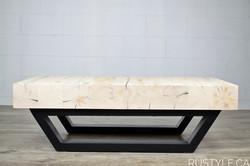 Table de salon Rustique chic poutre 6x6