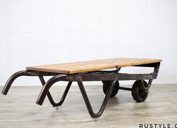 Table de salon rustique industriel unique