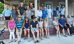 Casual group on porch 2