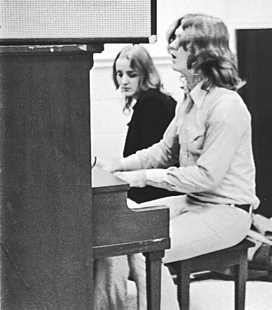 Larry w. Bonnie at piano