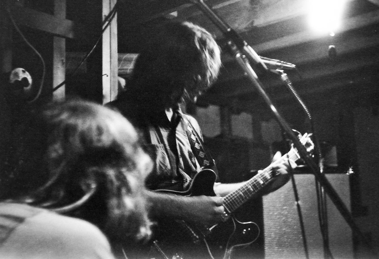 Larry, Greg basement jam, fall '72