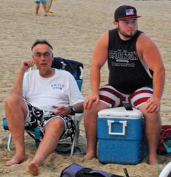 Tony, Danny beach