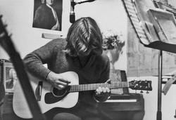 Larry (head down) guitar 9-12-72