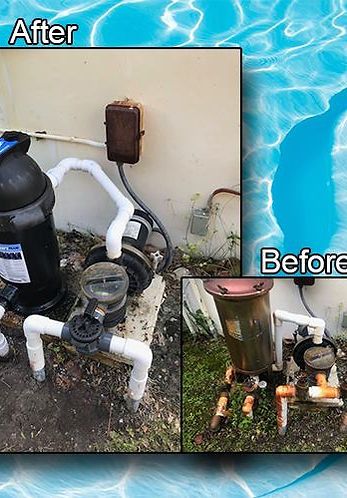 Pool Equipment Before & After