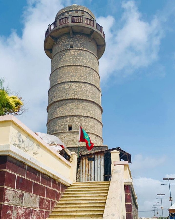 The tower is located near Abdulaziz Mosque.