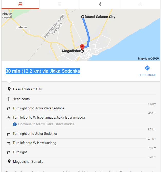 Daaru Salaam to Mogadishu - Muqdisho map - Muqdisho ilaa daaru salaam