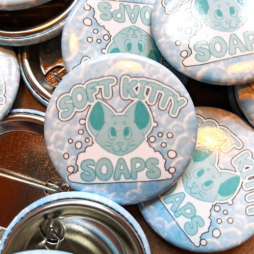 Soft Kitty Soaps Logo Button