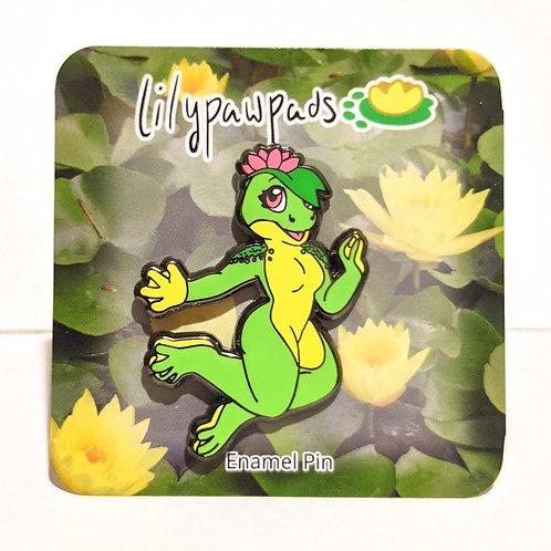 Flora Frog Enamel Pin