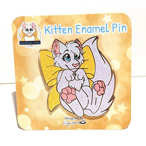VARIANT Gold Ribbon Kitten Pin