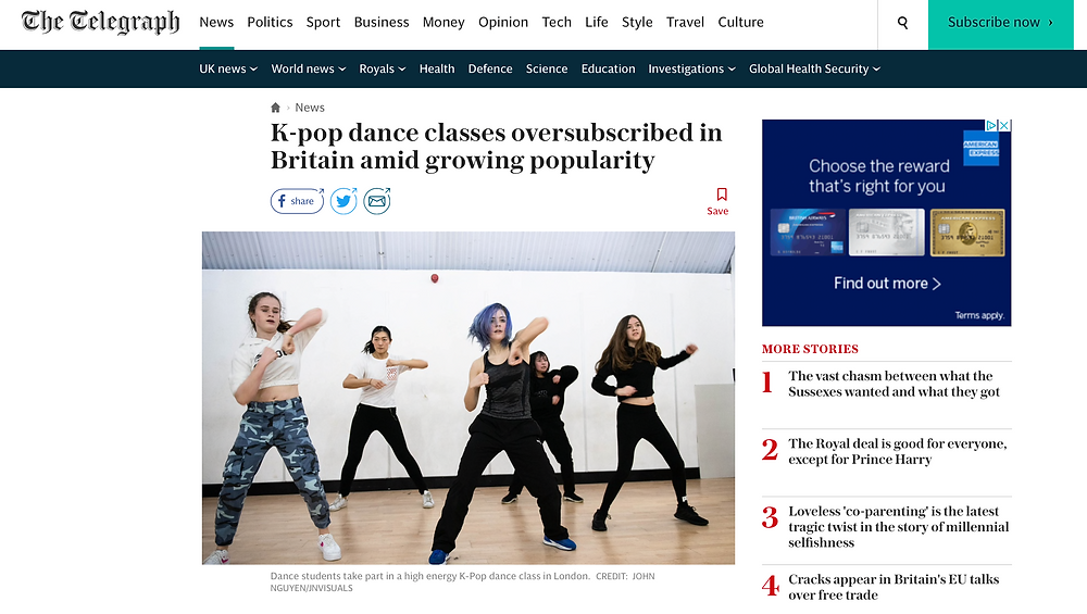 Love K-Pop Dance London students dancing at BASE Dance Studios
