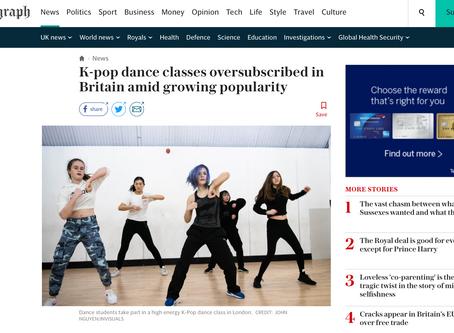 Interview with The Telegraph Newspaper: Love K-Pop Dance London