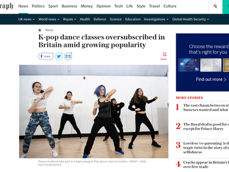 Interview with The Telegraph Newspaper: Love K-Pop Dance London