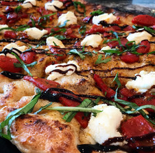 Roasted Red Pepper Flatbread with Ricotta