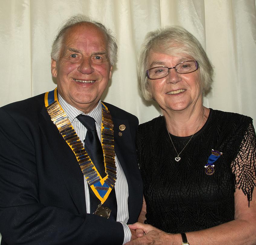 Graham Larcombe with PP Julie Miller