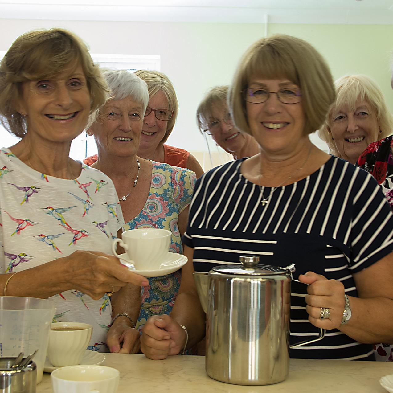 Inner Wheel ladies making tea