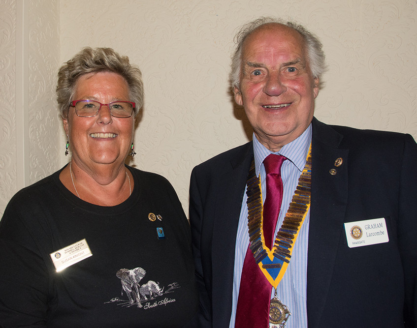 Graham Larcombe and Sue Knight