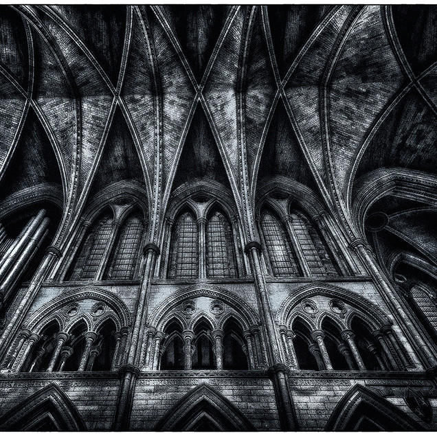 LOOKING UP (TRURO CATHEDRAL by Terry Sca