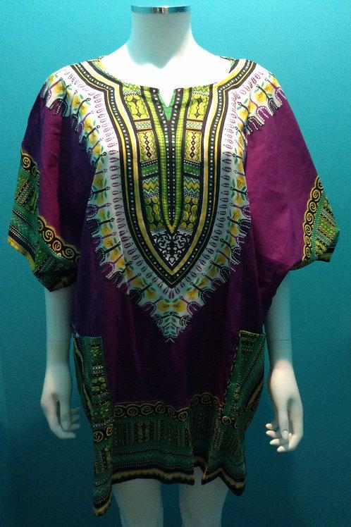 Purple Dashiki Top