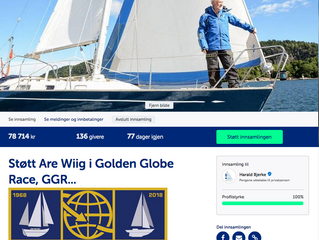 Are Wiig i Golden Globe Race… sponset av det norske folk!