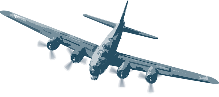 illustration of bomber plane