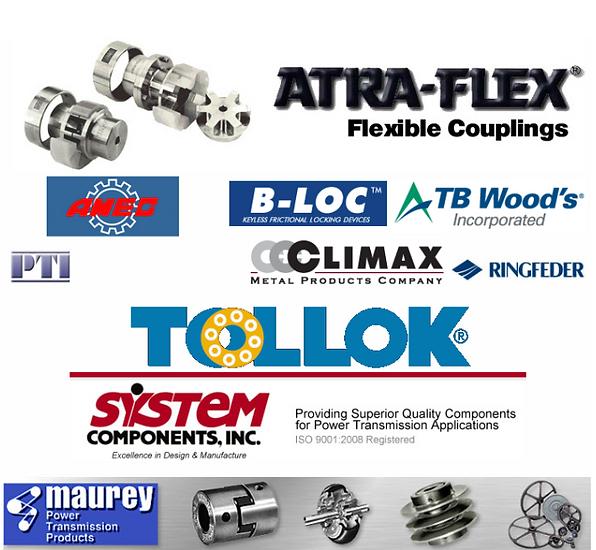 atra flex, amec, b-loc, tb woods, tollok, system components. maurey, pti