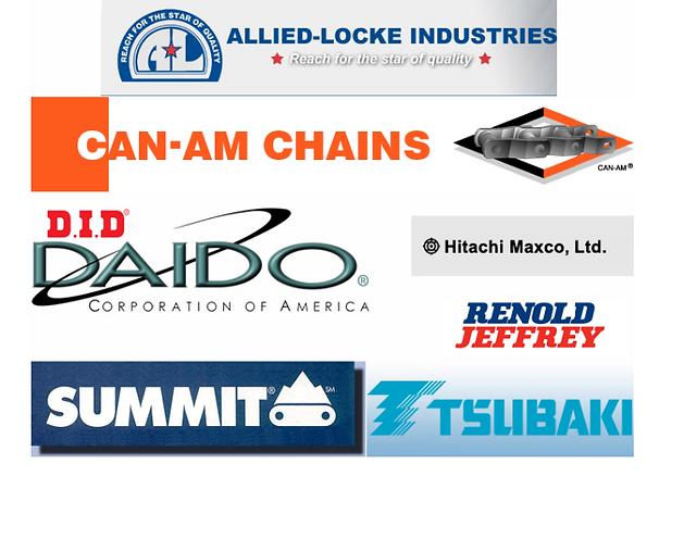 allied locke, can-am chain, daido, hitachi, summit, tsubaki, renold jeffrey