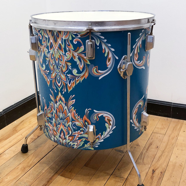 Upcycled Tom Drum End Table
