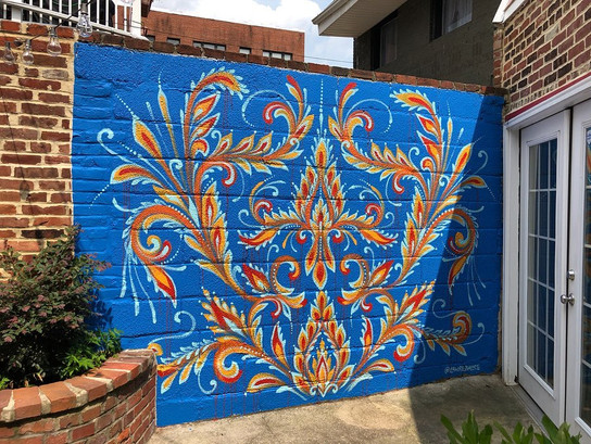 Private Backyard Mural Commission, 2019