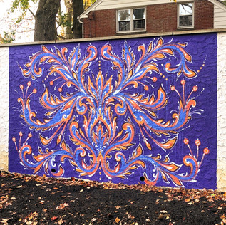 private backyard commission mural in Penn Wynn, PA • October 2019