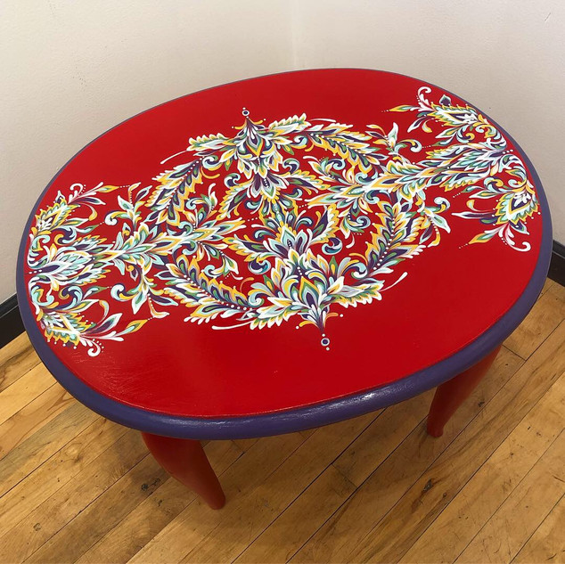 Upcycled End Table